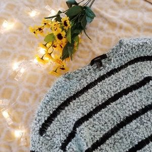 Forever21 Minty Colored Stripped Sweater